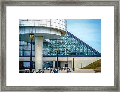 Cleveland Rock And Roll Hall Of Fame Framed Print by Rosette Doyle