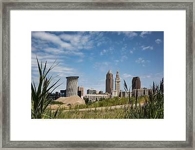 Cleveland Through The Green Framed Print by Dale Kincaid