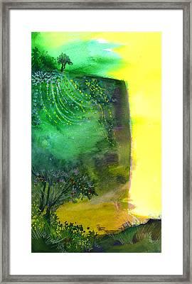 Cliff Framed Print by Anil Nene