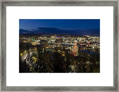 Cliff Drive Rush Hour - Spokane  Framed Print by Mark Kiver
