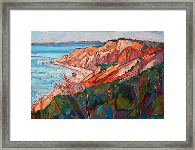 Cliffs In Color Framed Print by Erin Hanson