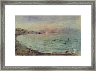 Cliffs Near Dieppe Framed Print by Ferdinand Victor Eugene Delacroix