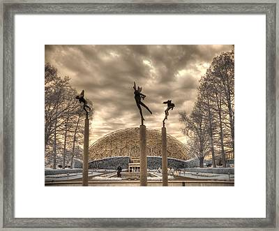 Climatron Framed Print by Jane Linders