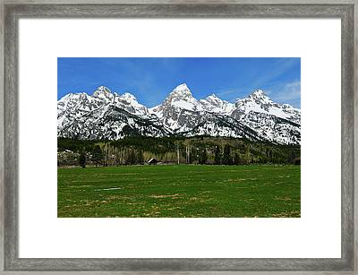 Climbers Ranch In Spring Framed Print by Greg Norrell