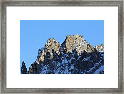 Climbers Sunlit Challenge Framed Print by Pat Speirs
