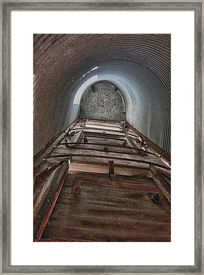 Climbing The Silo Framed Print by Guy Whiteley