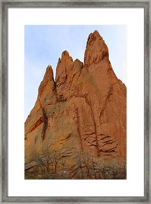 Climbing With The Gods Framed Print by Mike McGlothlen