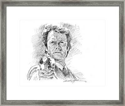 Clint Eastwood As Callahan Framed Print by David Lloyd Glover