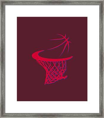 Clippers Basketball Hoop Framed Print by Joe Hamilton