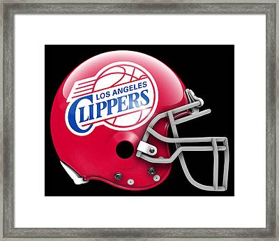 Clippers What If Its Football 1 Framed Print by Joe Hamilton