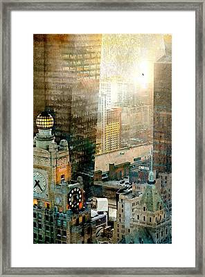 Clock Tower Framed Print by Diana Angstadt