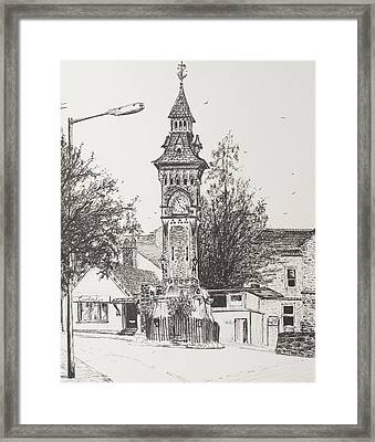 Clock Tower  Hay On Wye Framed Print by Vincent Alexander Booth