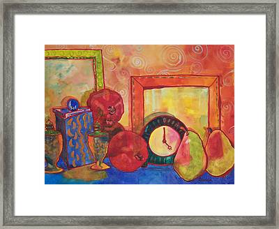 Clock Work Framed Print by Blenda Studio