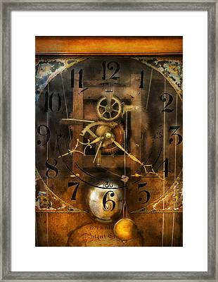 Clockmaker - A Sharp Looking Time Piece Framed Print by Mike Savad