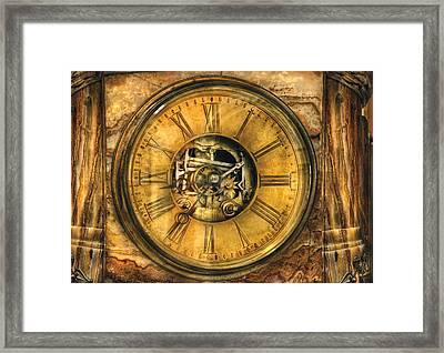 Clockmaker - Clock Works Framed Print by Mike Savad