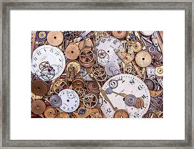 Clockworks Still Life Framed Print by Tom Mc Nemar