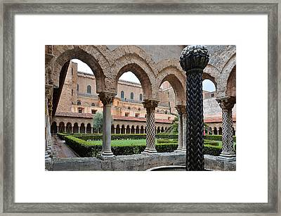 Cloister Of The Abbey Of Monreale. Framed Print by RicardMN Photography