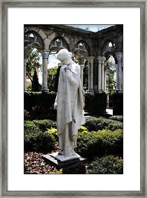Cloisters Statue Framed Print by Heidi Hermes