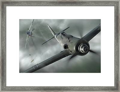 Close Call Framed Print by Robert Perry