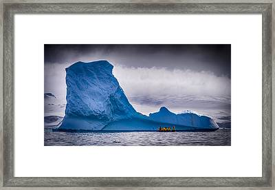 Close Encounter - Antarctica Iceberg Photograph Framed Print by Duane Miller
