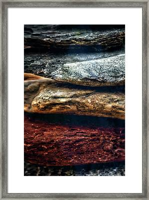 Close Up Of Rock Cairn At Buddha Beach - Sedona Framed Print by Jennifer Rondinelli Reilly