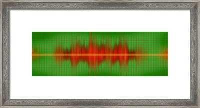 Close-up Of Sound Waves Framed Print by Panoramic Images
