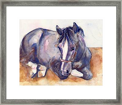 Close Your Eyes Framed Print by Maria's Watercolor
