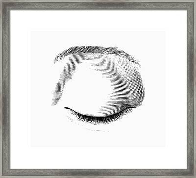 Closed Eye Framed Print by Mehau Kulyk