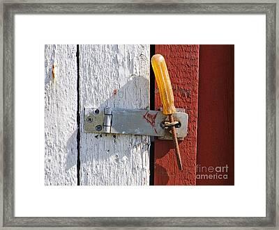 Closed Framed Print by Lutz Baar