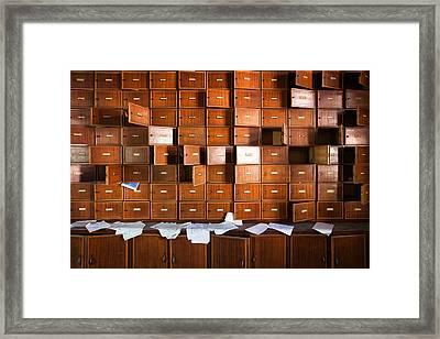 Closet Full Of Forgotten Memories - Abandoned Building Framed Print by Dirk Ercken