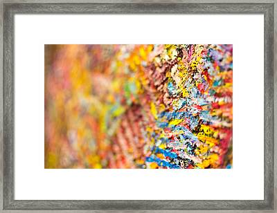Closeup Of Abstract Art Brush Strokes Framed Print by John Williams