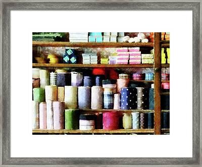 Cloth In General Store Framed Print by Susan Savad