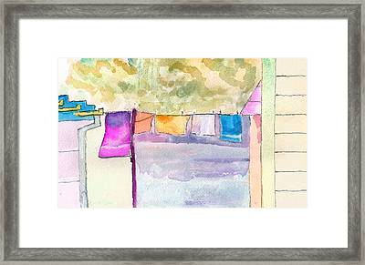 Clothes On The Line Framed Print by Paul Thompson