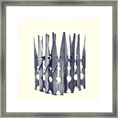 Clothespin Framed Print by Priska Wettstein