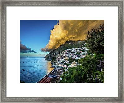 Cloud Avalanche Framed Print by Inge Johnsson
