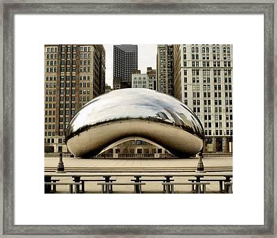 Cloud Gate - 3 Framed Print by Ely Arsha
