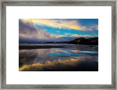 Cloud Reflections Framed Print by Garry Gay