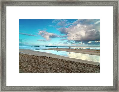 Cloud Reflections Framed Print by Sean Davey