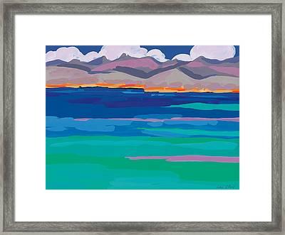 Cloud Sea View Framed Print by Sarah Gillard