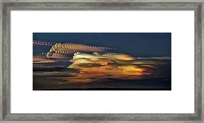 Cloud Stack Framed Print by Karen Slagle