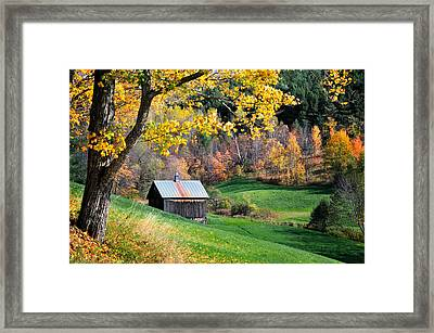 Cloudland Rustic Barn - Pomfret Vermont Framed Print by Thomas Schoeller