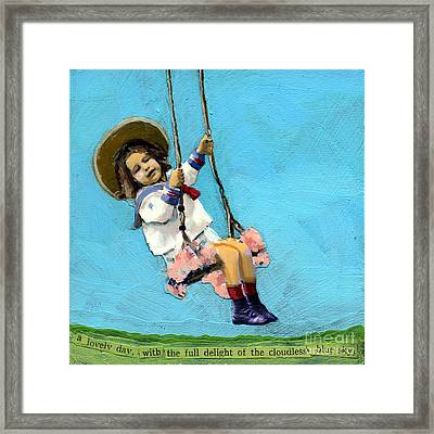 Cloudless Sky Framed Print by Linda Apple