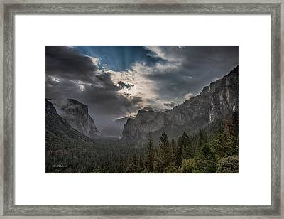 Clouds And Light Framed Print by Bill Roberts