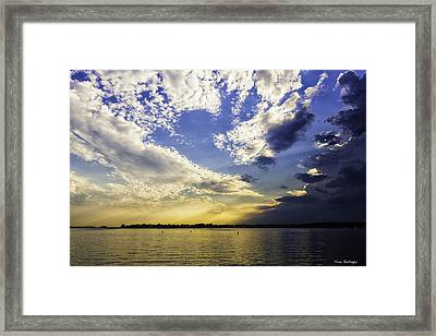 Clouds At Twilight Framed Print by Fran Gallogly