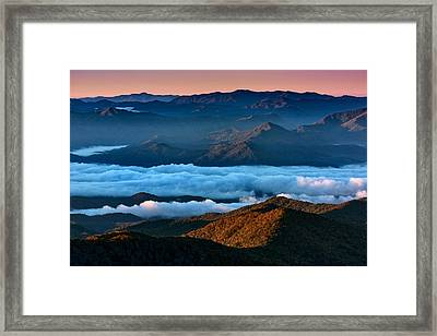 Clouds In The Valley Framed Print by Rick Berk