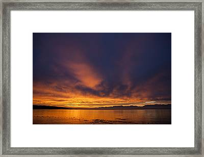 Clouds Lit Up At Sunrise Framed Print by Taylor S. Kennedy