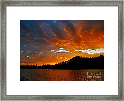 Clouds Of Fire          Framed Print by Kaye Menner