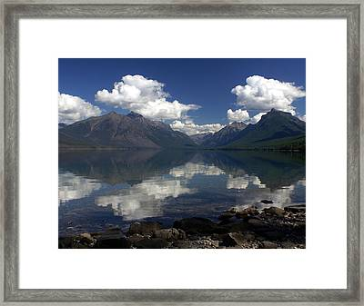 Clouds On The Water Framed Print by Marty Koch