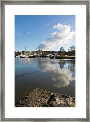Clouds Over Cockwells Boatyard Mylor Bridge Framed Print by Terri Waters