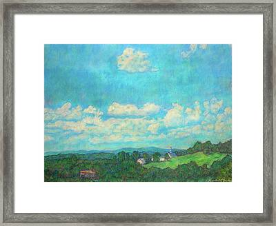 Clouds Over Fairlawn Framed Print by Kendall Kessler